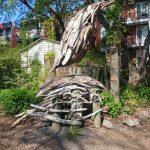 Art in ruelle verte de la Rivière