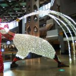 Christmas decor at Complexe Desjardins located at Festival Place.