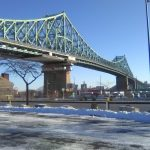 Jacques-Cartier bridge in all of its morning glory sun