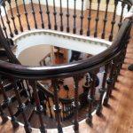 Open house in Westmount.  Superb landing and elegant wood carved stairway!