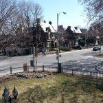 Open house in Westmount.  Views from the front porch!