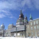Chapelle Bon Secours view from de la Commune street in old Montréal.