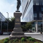 CHÉNIER monument- City of MTL art collection.  Chénier.  He was a key player of the winning of the PATRIOT battle.