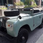 Seen on the street:  1960 Land Rover SII 88